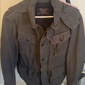 JCrew military jacket in faded black